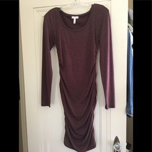 Leith Ruched Dress Heathered color Small